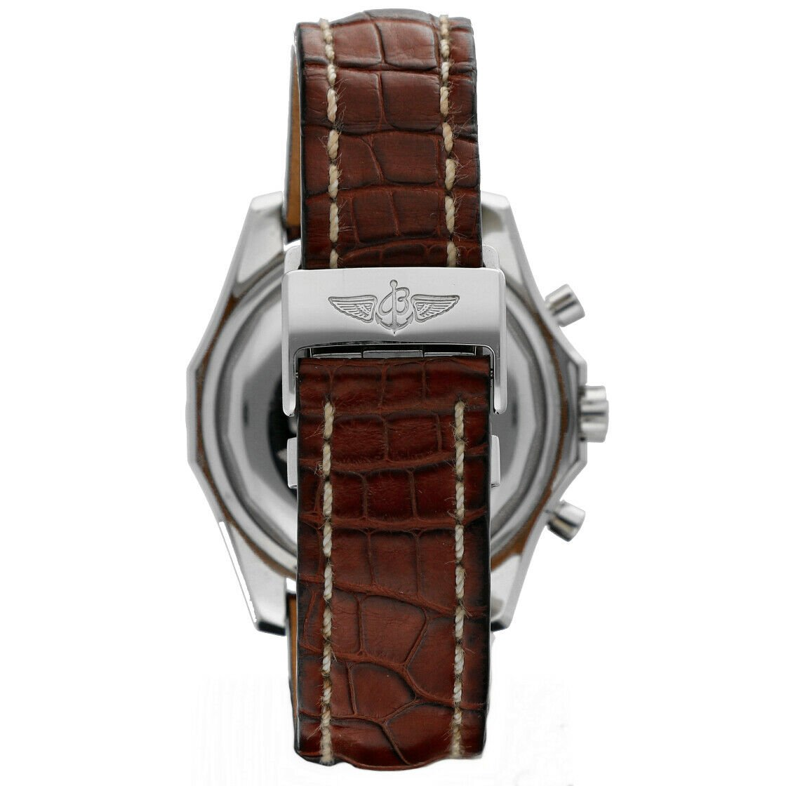 Breitling A13362 Bentley Green Dial 43mm Chrono Leather Automatic Mens Watch 133372522161 4