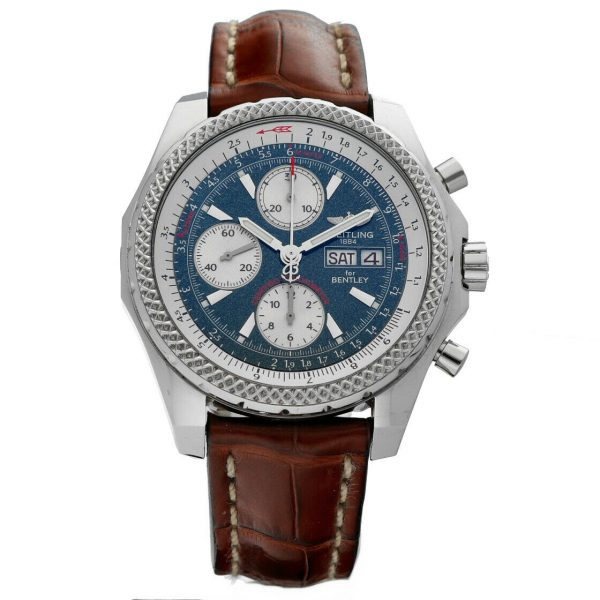 Breitling A13362 Bentley Green Dial 43mm Chrono Leather Automatic Mens Watch 133372522161