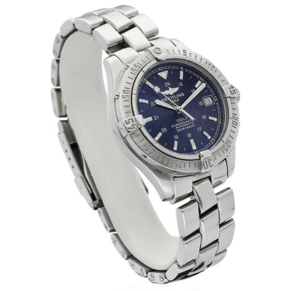 Breitling A17350 Colt Black Dial Stainless Steel 38mm Automatic Mens Watch 124226363351 3
