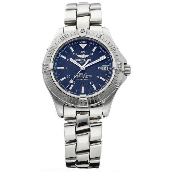 Breitling A17350 Colt Black Dial Stainless Steel 38mm Automatic Mens Watch 124226363351