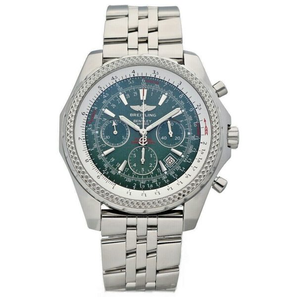 Breitling A25362 Bentley Green Dial 48mm Chrono Steel Automatic Mens Watch 133574055181 2