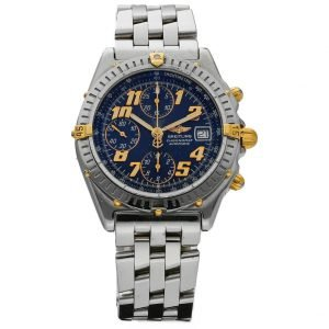Breitling B13350 Chronomat Blue Dial Stainless Steel 40mm Automatic Mens Watch 124225211111