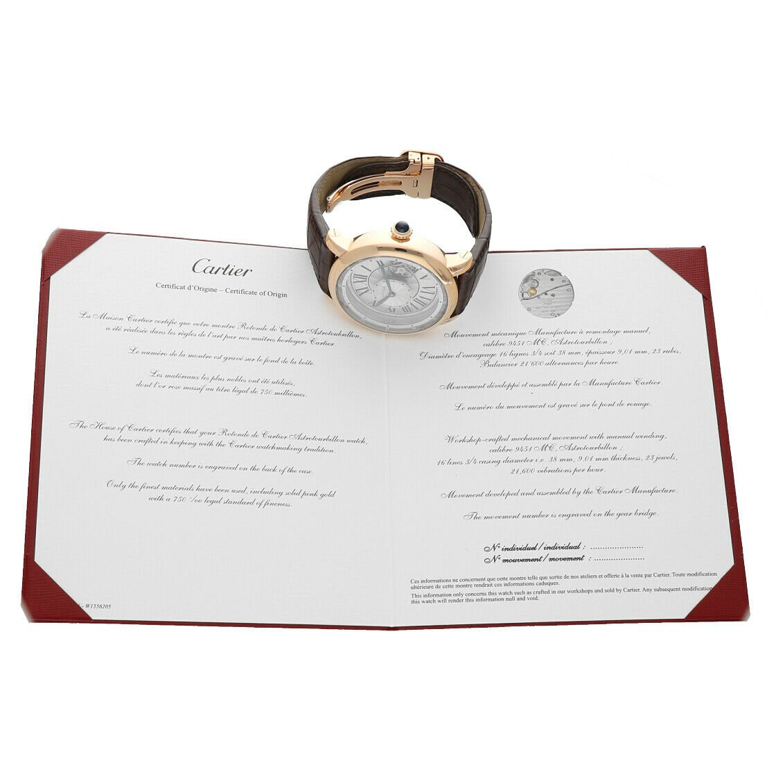 Cartier 3308 W1556205 Rotonde Astrotourbillon 18k Rose Gold Limited Mens Watch 124243384081 11