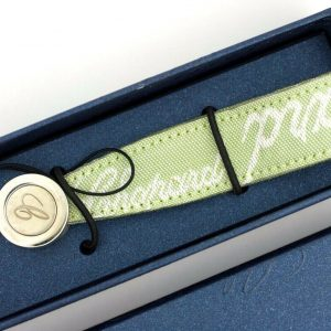 Chopard 957090 Green Canvas Phone Strap Silver C Logo Monogam 35 113693728721