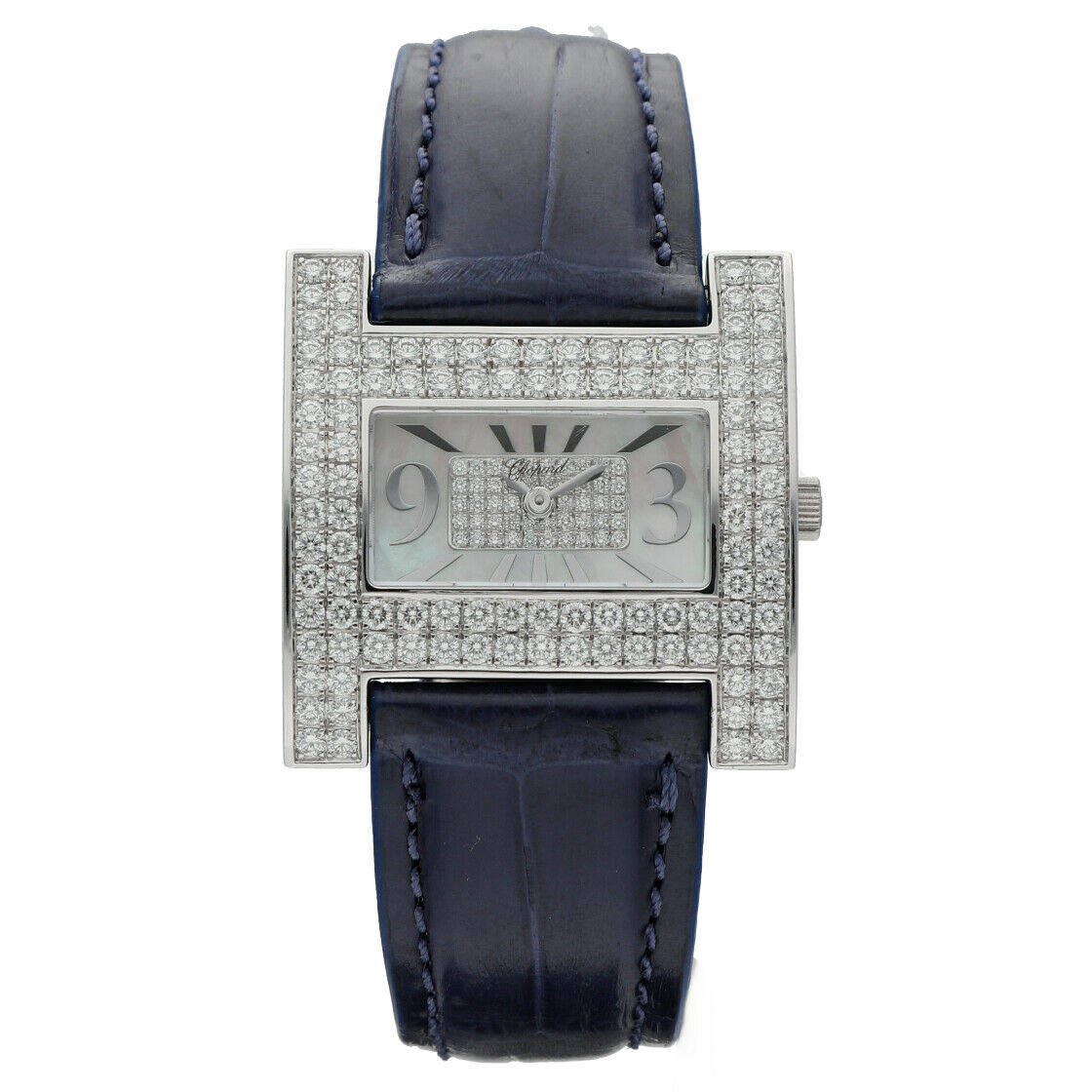 Chopard Classique 139224 1001 18k WG Diamonds 271Ct MOP Dial Ladies Watch 133282396531