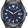 Citizen Eco Drive AW1147 52L Drive Black PVD Steel 41mm Solar Mens Watch 114507303161