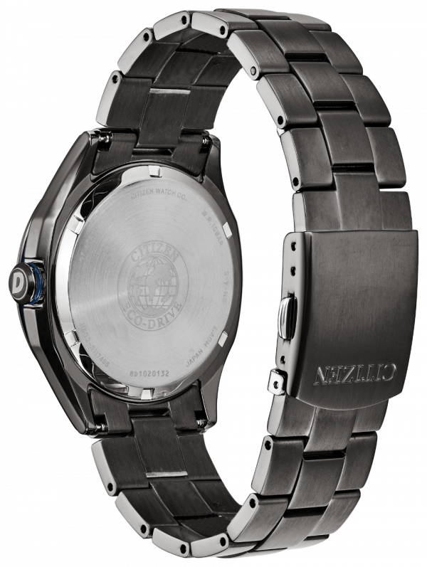 Citizen Eco Drive AW1147 52L Drive Black PVD Steel 41mm Solar Mens Watch 114507303161 2