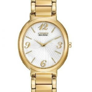 Citizen Eco Drive EX1232 50A Allura Gold Tone Stainless Steel Womens Watch 112042592051
