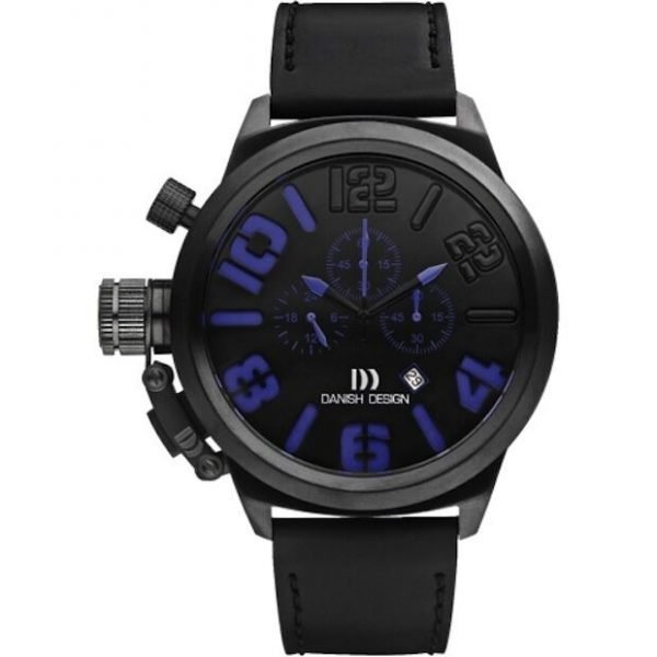 Danish Design IQ22Q917 50mm Chronograph Stainless Steel Leather Mens Watch 112210852271