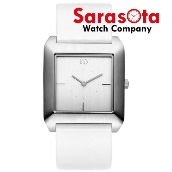 Danish Design IV12Q989 Silver Dial Stainless Steel Leather Quartz Womens Watch 122241623581