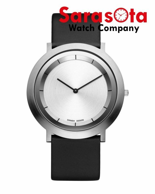 Danish Design IV16Q988 Silver Dial Stainless Steel Leather Quartz Womens Watch 113576958861