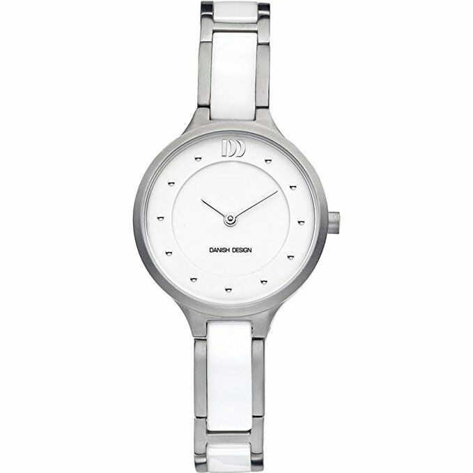Danish Design IV62Q941 White Dial TitaniumCeramic Quartz Classic Womens Watch 122238522291
