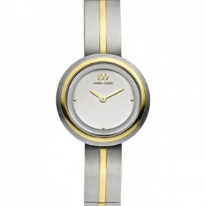 Danish Design IV65Q932 Silver Dial Two Tone Titanium Classic Quartz Womens Watch 122237228331