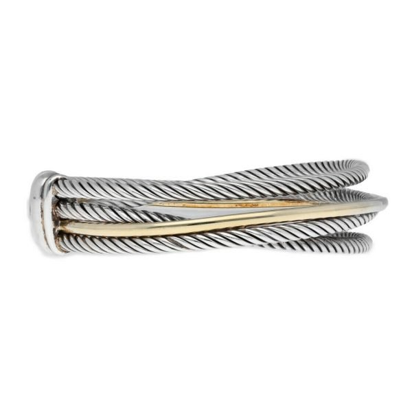 David Yurman 750 Yellow Gold Bonded Sterling Silver Cable Wire Cuff Bracelet 65 133492253521 6