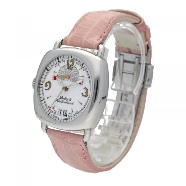 DubeySchaldenbrand Caprice 03 Steel Leather Limited Automatic Womens Watch 133611630101 2