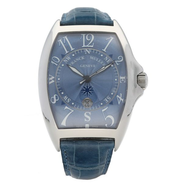 Franck Muller 9080 ST DT MAR Mariner Blue Leather Automatic Wrist Watch 114837941241 2
