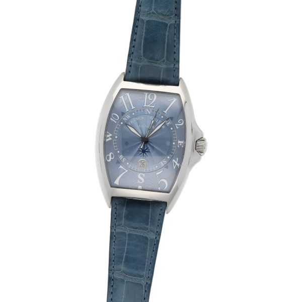 Franck Muller 9080 ST DT MAR Mariner Blue Leather Automatic Wrist Watch 114837941241 3