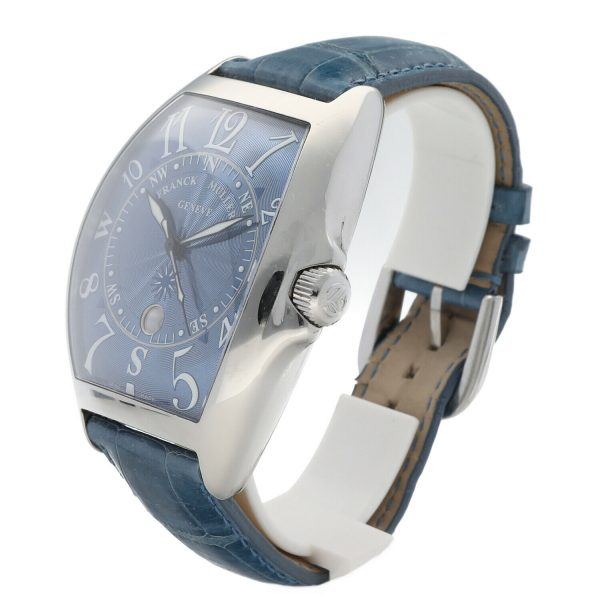 Franck Muller 9080 ST DT MAR Mariner Blue Leather Automatic Wrist Watch 114837941241 5