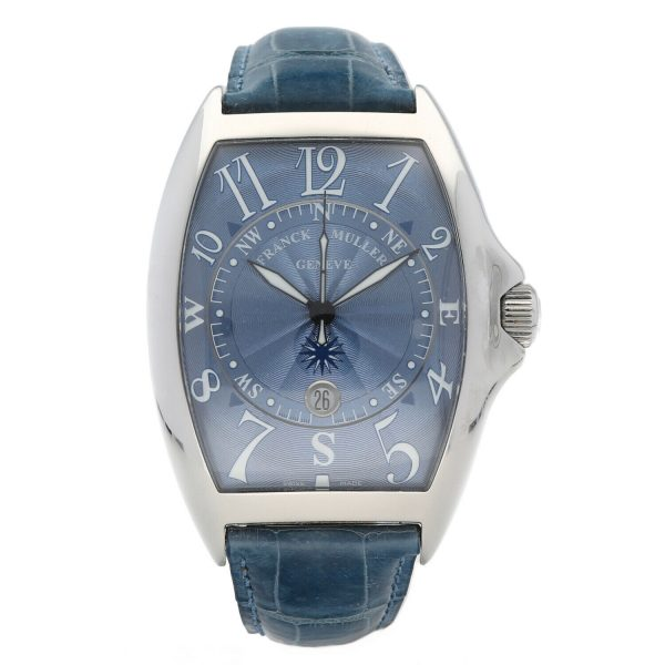 Franck Muller 9080 ST DT MAR Mariner Blue Leather Automatic Wrist Watch 114837941241