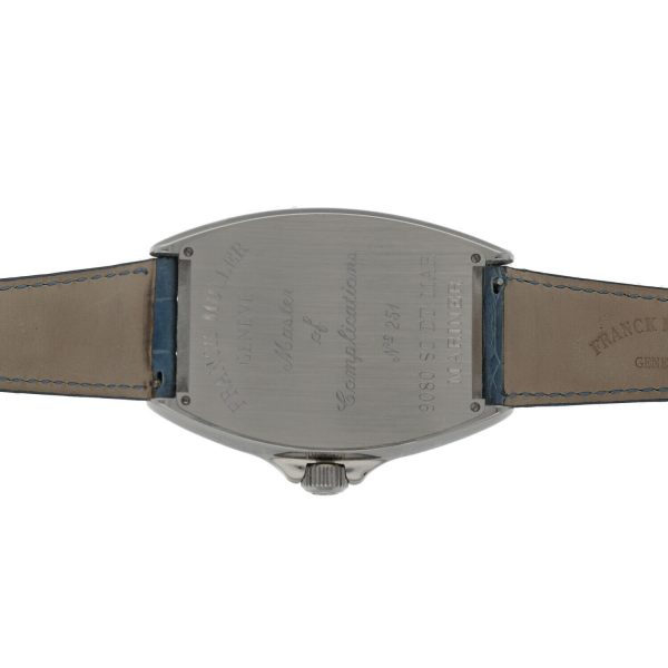 Franck Muller 9080 ST DT MAR Mariner Blue Leather Automatic Wrist Watch 114837941241 9