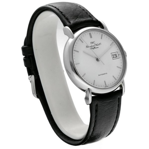 IWC IW3513 24 Portofino Steel Leather White Dial Date Automatic Mens Watch 114022772751 3