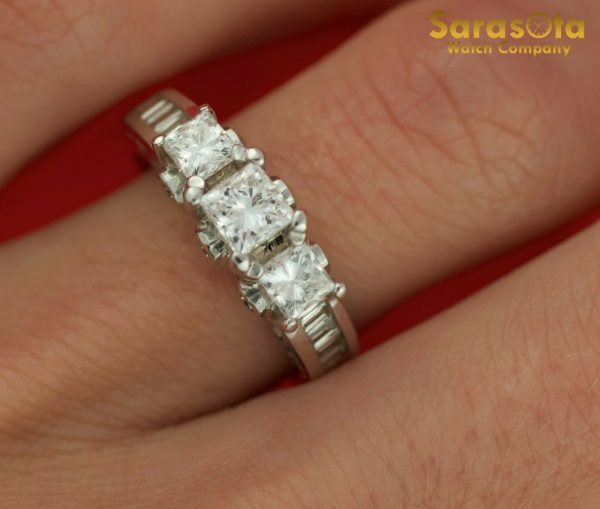 14K White Gold Approx 10 Ct Diamond Womens Ring Size 45 131654106072 5