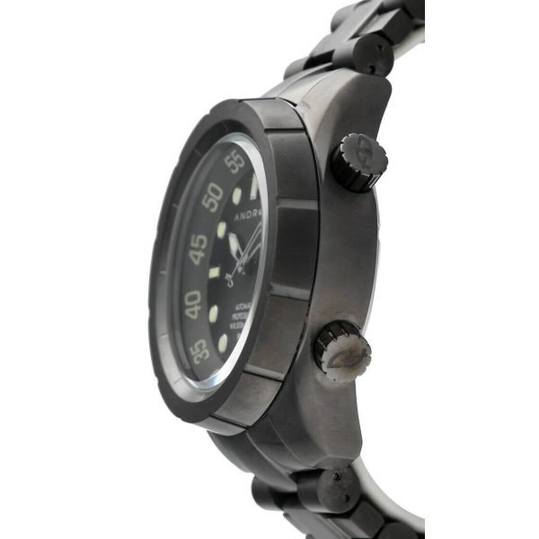 Android AD563 Professional 50mm Black PVD Steel 500M Diver Automatic Mens Watch 133594489282 3
