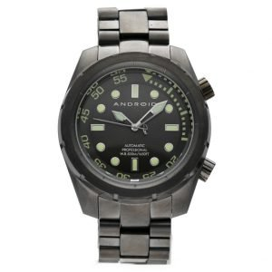 Android AD563 Professional 50mm Black PVD Steel 500M Diver Automatic Mens Watch 133594489282