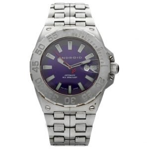 Android AD902 Stainless Steel 48mm Purple Dial Swiss Automatic Mens Watch 133594919112