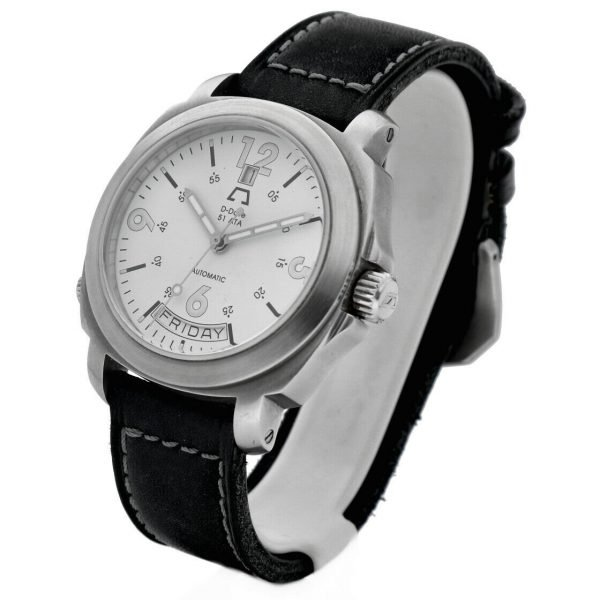 Anonimo D Date 51ETA 2006 Day Date Ivory Dial Leather 43mm Automatic Mens Watch 114412345712 2
