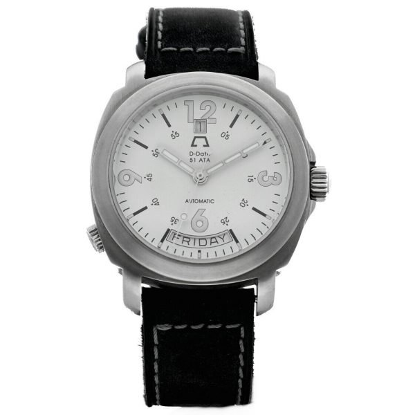 Anonimo D Date 51ETA 2006 Day Date Ivory Dial Leather 43mm Automatic Mens Watch 114412345712