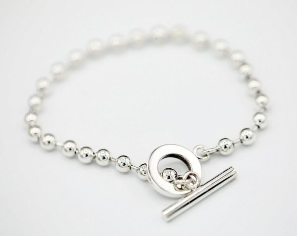 Authentic GUCCI Sterling Silver 925 Ball Chain 21 Size Womens Bracelet 85 114586124172 3