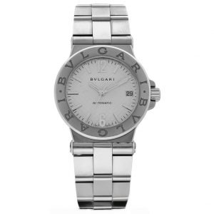 BVLGARI Diagano DG 35 S Silver Dial 36 mm Stainless Steel Automatic Wrist Watch 114155215312