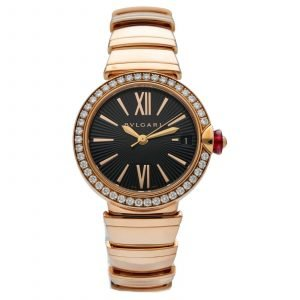 BVLGARI Lvcea 102260 18k Rose Gold Diamonds 33mm Automatic Womens Watch 114574988172