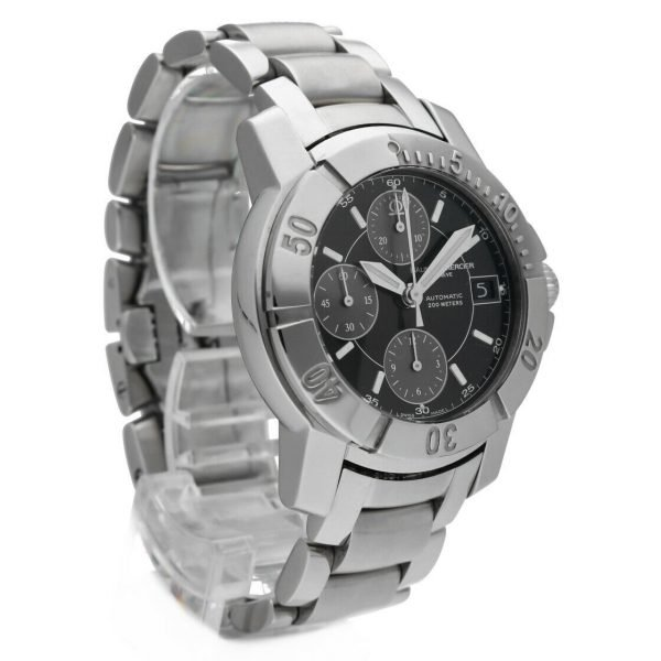 Baume Mercier Capeland Chronograph Stainless Steel Swiss Automatic Wrist Watch 133657231482 5