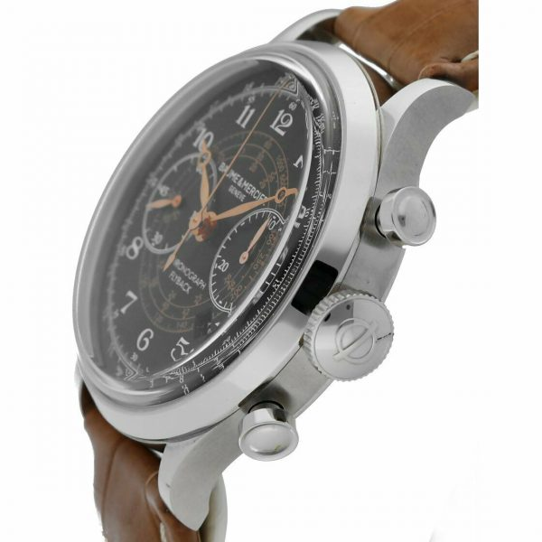 Baume Mercier Capeland M0A10068 Flyback Chronograph Brown Leather Mens Watch 133467859202 3