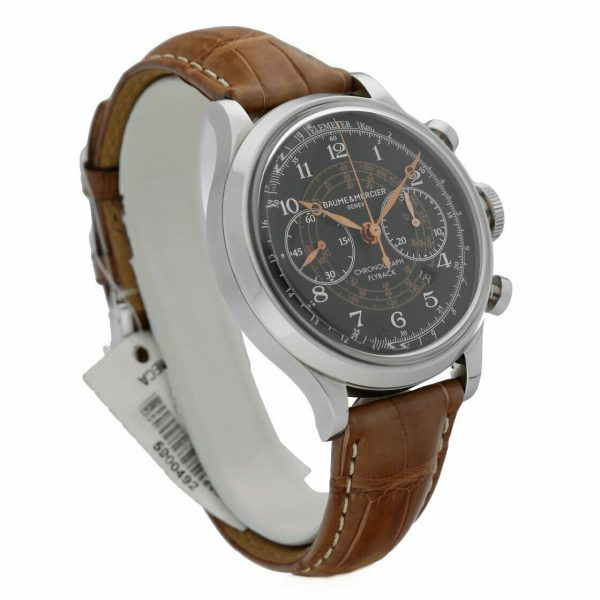 Baume Mercier Capeland M0A10068 Flyback Chronograph Brown Leather Mens Watch 133467859202 4
