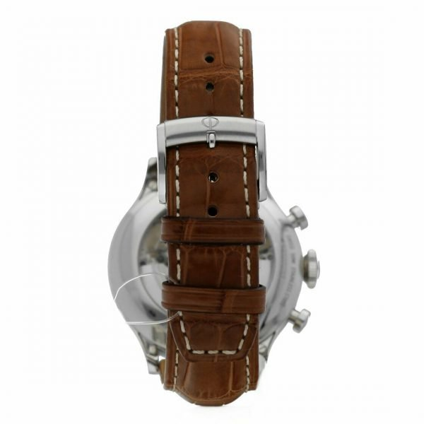 Baume Mercier Capeland M0A10068 Flyback Chronograph Brown Leather Mens Watch 133467859202 5