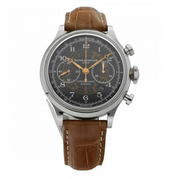 Baume Mercier Capeland M0A10068 Flyback Chronograph Brown Leather Mens Watch 133467859202
