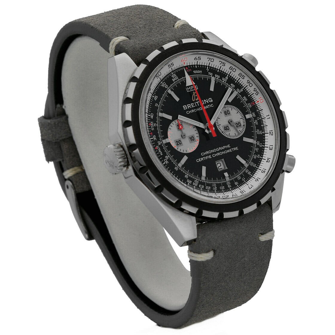 Breitling A41360 Chronomatic Chrono Leather Automatic Mens Watch BoxPapers 124132399902 3