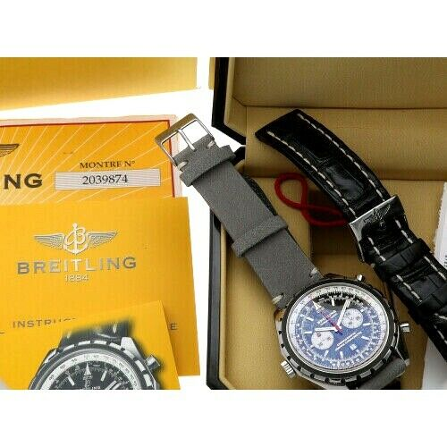 Breitling A41360 Chronomatic Chrono Leather Automatic Mens Watch BoxPapers 124132399902 8