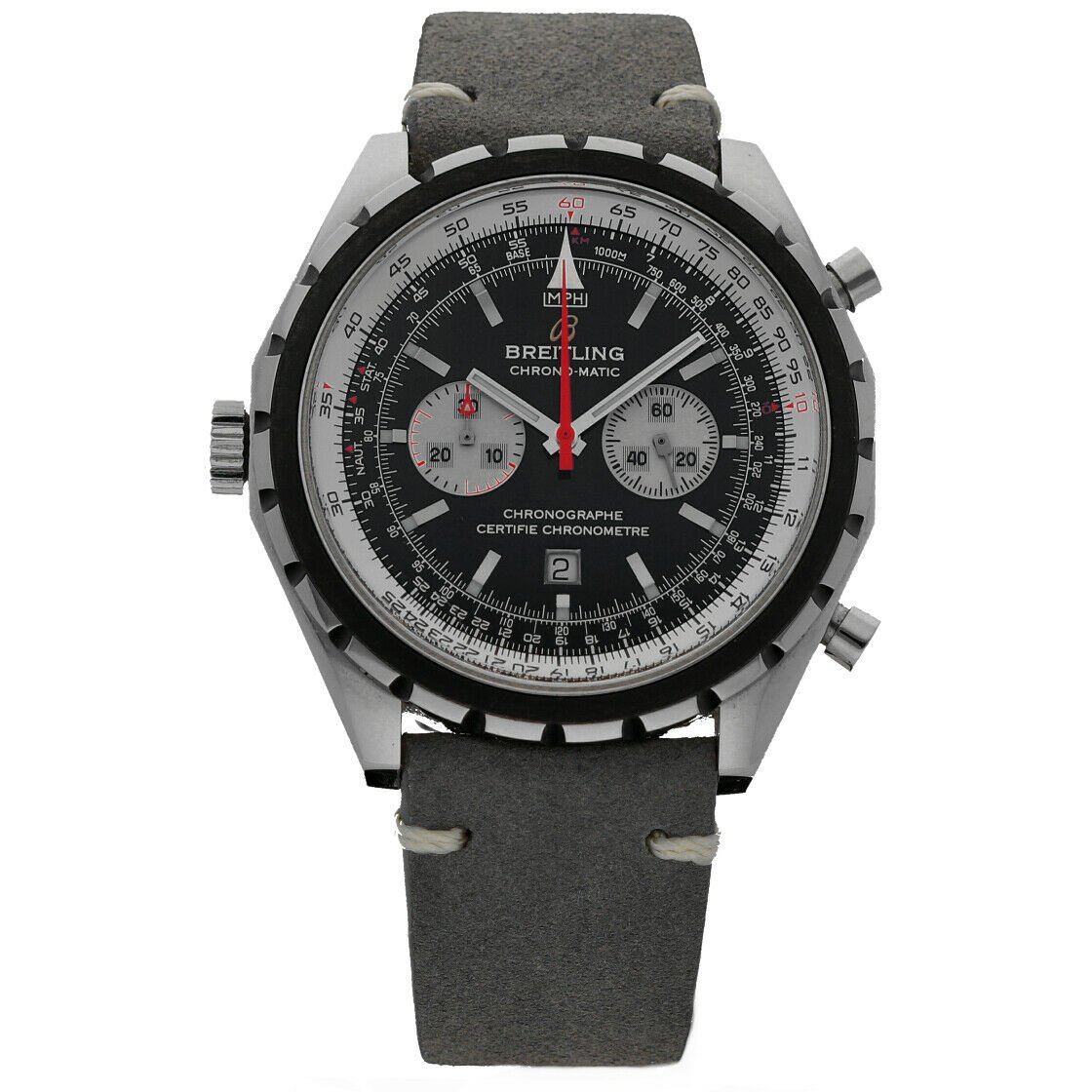 Breitling A41360 Chronomatic Chrono Leather Automatic Mens Watch BoxPapers 124132399902