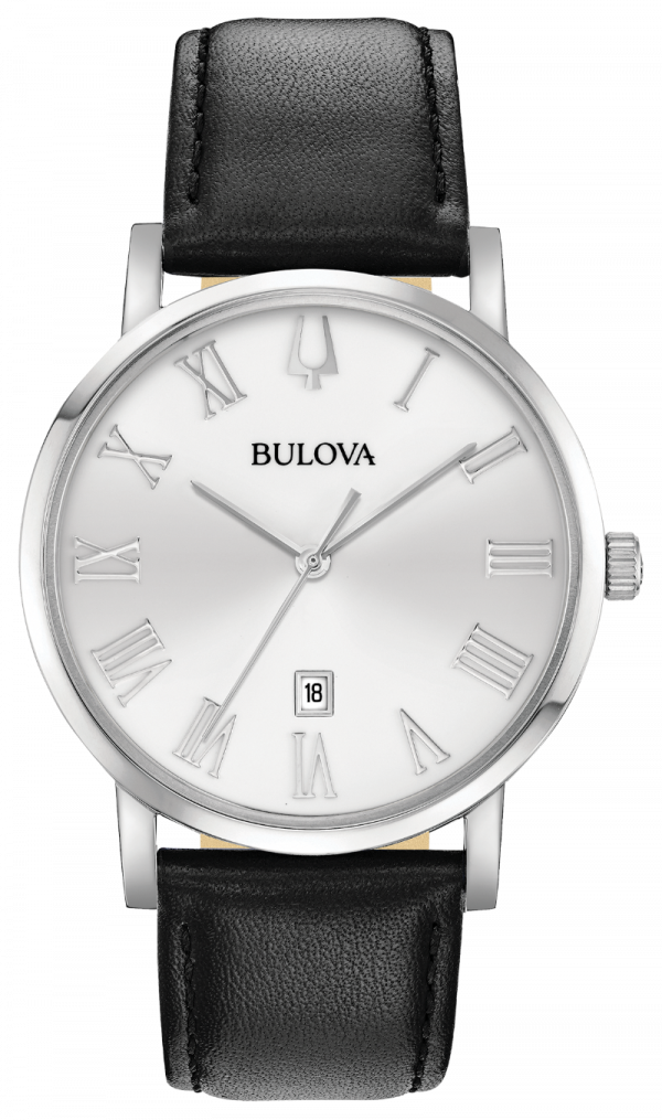 Bulova American Clipper 96B312 40mm Stainless Steel Leather Band Mens Watch 133366974142