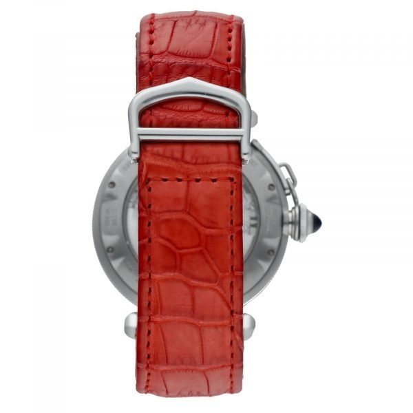 Cartier Pasha 2379 Stainless Steel 38mm Red Leather Swiss Automatic Wrist Watch 124434110752 6