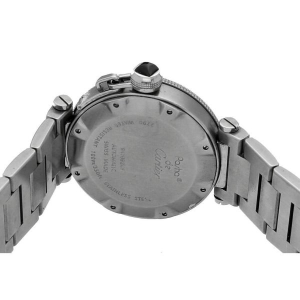 Cartier Pasha Seatimer 2790 Black Dial Stainless Steel Automatic Mens Watch 133626331492 6