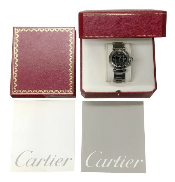Cartier Pasha Seatimer 2790 Black Dial Stainless Steel Automatic Mens Watch 133626331492 7