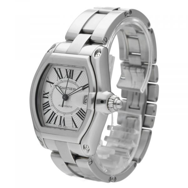 Cartier Roadster 2510 Silver Dial Large Stainless Steel Automatic Mens Watch 124458510472 2