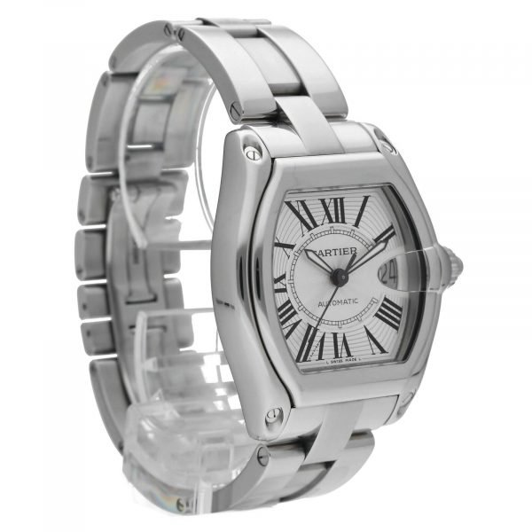 Cartier Roadster 2510 Silver Dial Large Stainless Steel Automatic Mens Watch 124458510472 5