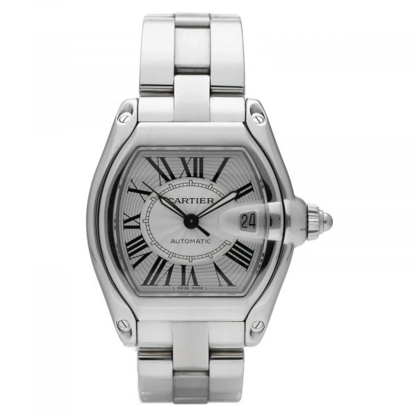 Cartier Roadster 2510 Silver Dial Large Stainless Steel Automatic Mens Watch 124458510472