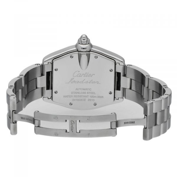 Cartier Roadster 2510 Silver Dial Large Stainless Steel Automatic Mens Watch 124458510472 7